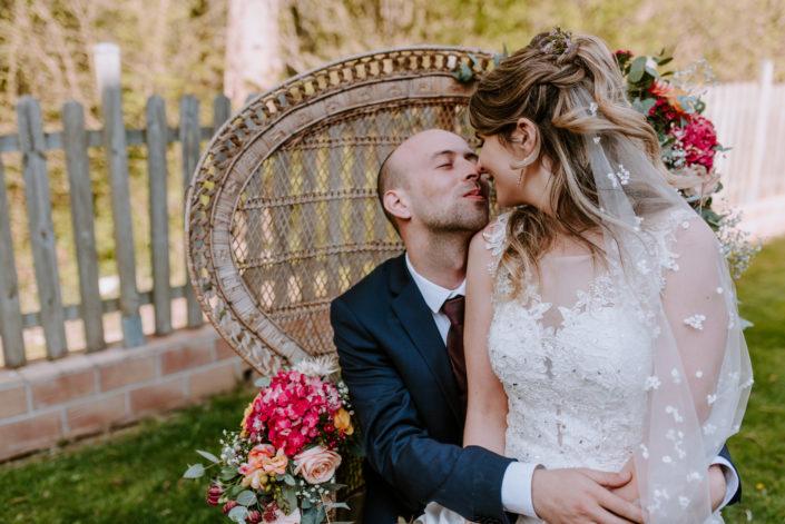 Morgane et Loik - un doux mariage de printemps