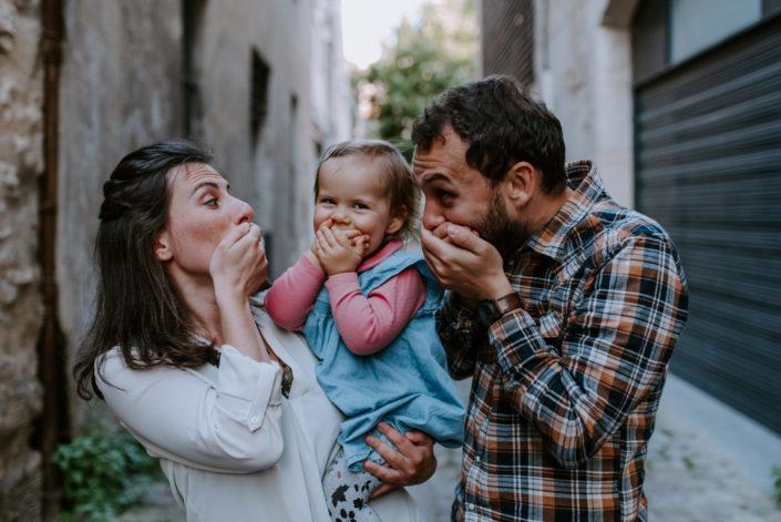 Séance famille dans Bordeaux - Marine, Guillaume et Romane