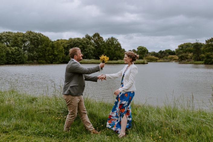 Séance engagement au parc Floral de Bordeaux - Isabelle et Maxime